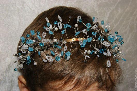 Диадемы, обручи ручной работы. Ярмарка Мастеров - ручная работа. Купить Украшения для волос девочке. Handmade. Комбинированный, бисерное украшение