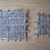 Материалы для творчества ручной работы. Ярмарка Мастеров - ручная работа Рамки (основы) для панно (набор - 2 шт). Handmade.