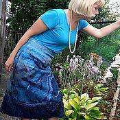 """Одежда ручной работы. Ярмарка Мастеров - ручная работа Юбка валяная """"Морской бриз"""". Handmade."""