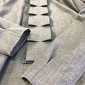 Одежда ручной работы. Ярмарка Мастеров - ручная работа Блуза  Именная  ткань PIAGENZA. 45% шерсть мериносовой овцы , 55%хлопк. Handmade.