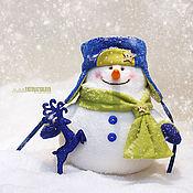 Подарки к праздникам ручной работы. Ярмарка Мастеров - ручная работа Добрый и пушистый Снеговик. Handmade.