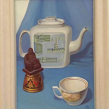 Картины и панно ручной работы. Ярмарка Мастеров - ручная работа Картины: Натюрморт с Буддой. Handmade.
