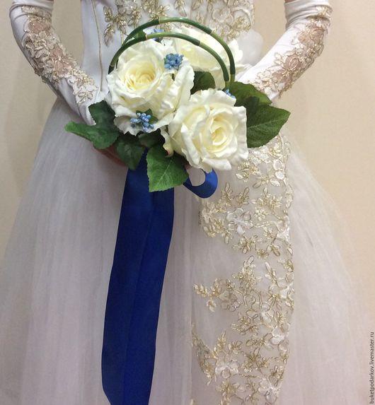 """Свадебные цветы ручной работы. Ярмарка Мастеров - ручная работа. Купить Букет дублер """" Розы). Handmade. Комбинированный"""
