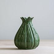 """Для дома и интерьера ручной работы. Ярмарка Мастеров - ручная работа Ваза """"Melon Emerald M"""" 0.6 л.. Handmade."""