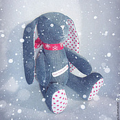 Куклы и игрушки ручной работы. Ярмарка Мастеров - ручная работа Джинсовый Зайка. Handmade.