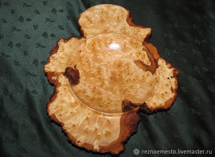 Чаша (ваза) деревянная, Чаша (ваза) из дерева, Деревянная чаша (ваза)