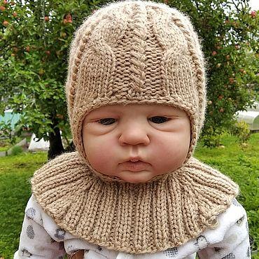 Одежда ручной работы. Ярмарка Мастеров - ручная работа Шапка- шлем на осень.. Handmade.