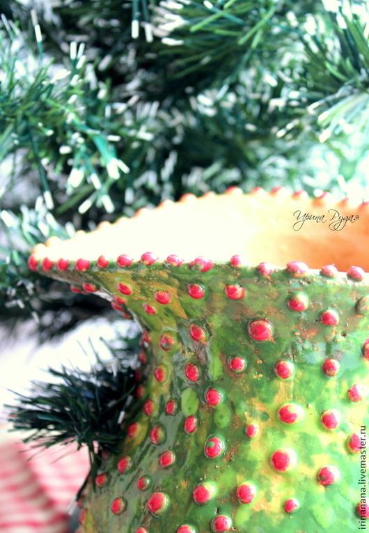Вазы ручной работы. Ярмарка Мастеров - ручная работа. Купить Рождественский кувшинчик в пупырку. Handmade. Зеленый, керамика купить