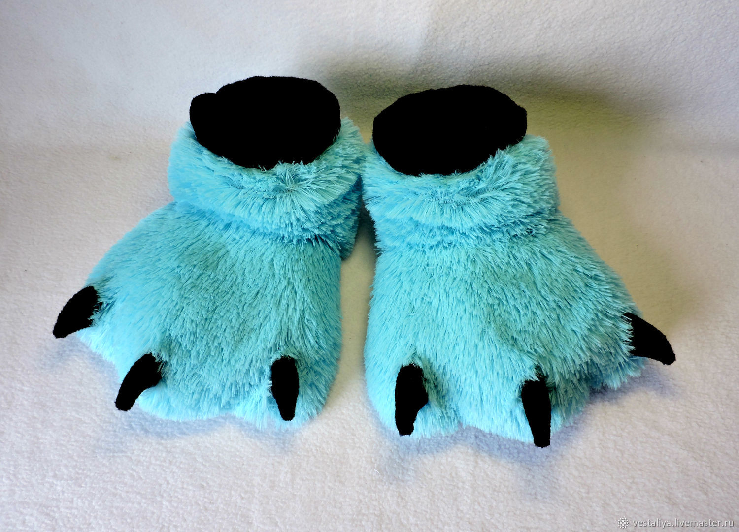 Slippers Furry paw, Slippers, Novosibirsk,  Фото №1