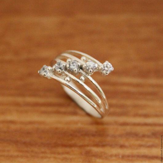 Кольца ручной работы. Ярмарка Мастеров - ручная работа. Купить Серебряное кольцо Салют, серебро 925. Handmade. Серебряный