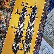 Украшения ручной работы. Ярмарка Мастеров - ручная работа Серьги очень длинные. Handmade.