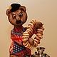 Мишки Тедди ручной работы. Ярмарка Мастеров - ручная работа. Купить Прохор. Handmade. Коричневый, тедди, подарок иностранцу, чаепитие