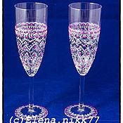 Посуда handmade. Livemaster - original item Champagne glasses. Handmade.