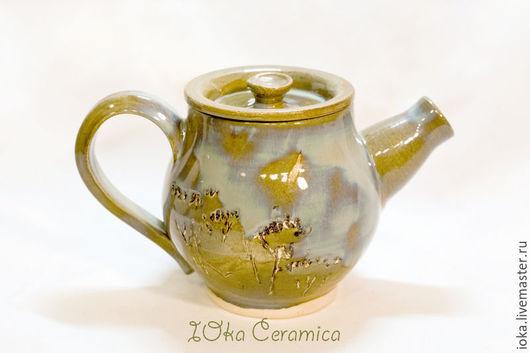 Чайники, кофейники ручной работы. Ярмарка Мастеров - ручная работа. Купить В наличии: Чайник осень. Handmade. Оливковый, хаки