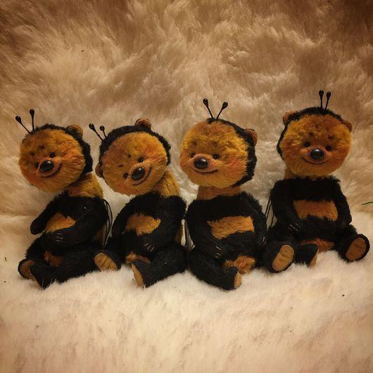 Мишки Тедди ручной работы. Ярмарка Мастеров - ручная работа. Купить СИДИМ И НЕ ЖУЖЖИМ :). Handmade. Мишка