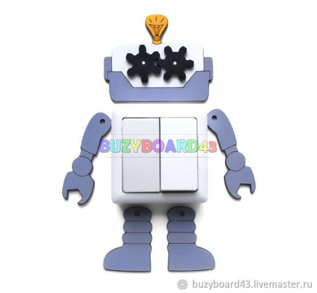 Заготовка для бизиборда Робот с шестерёнками, Бизиборды, Киров,  Фото №1