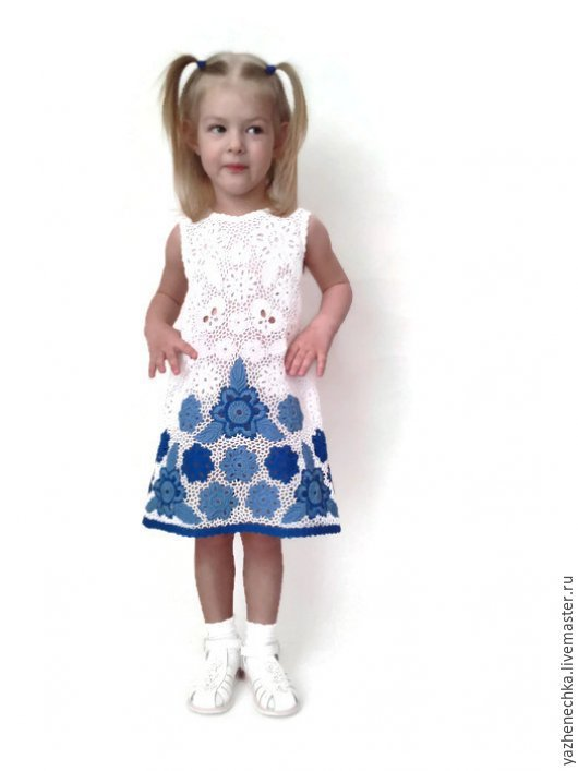 Одежда для девочек, ручной работы. Ярмарка Мастеров - ручная работа. Купить Платье из хлопка для девочки. Handmade. Платье для девочки, платье