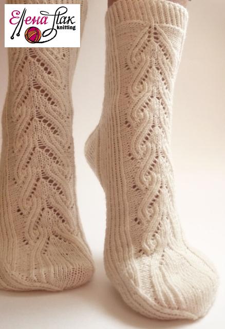 """Носки, Чулки ручной работы. Ярмарка Мастеров - ручная работа. Купить Носки вязаные """"Zephyr"""". Handmade. Белый, нежность, шерсть"""