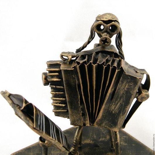 Миниатюрные модели ручной работы. Ярмарка Мастеров - ручная работа. Купить Еврей - аккордеонист. Handmade. Скульптурная миниатюра, подарки к праздникам