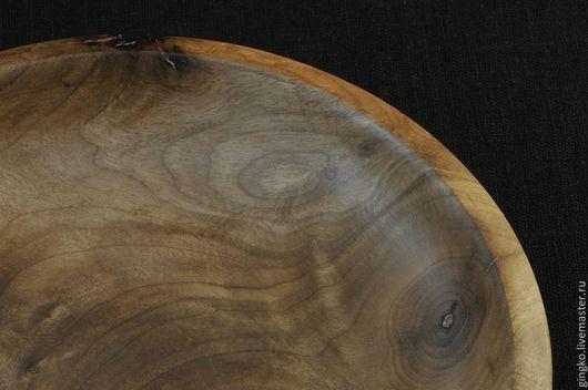 Тарелки ручной работы. Ярмарка Мастеров - ручная работа. Купить Тарелка из дерева. Орех.. Handmade. Коричневый, тарелка, деревянная тарелка