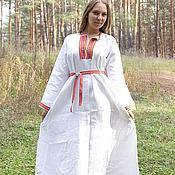"""Одежда ручной работы. Ярмарка Мастеров - ручная работа Платье """"Берегиня"""" белое. Handmade."""