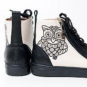 Обувь ручной работы. Ярмарка Мастеров - ручная работа Кеды Sova. Handmade.
