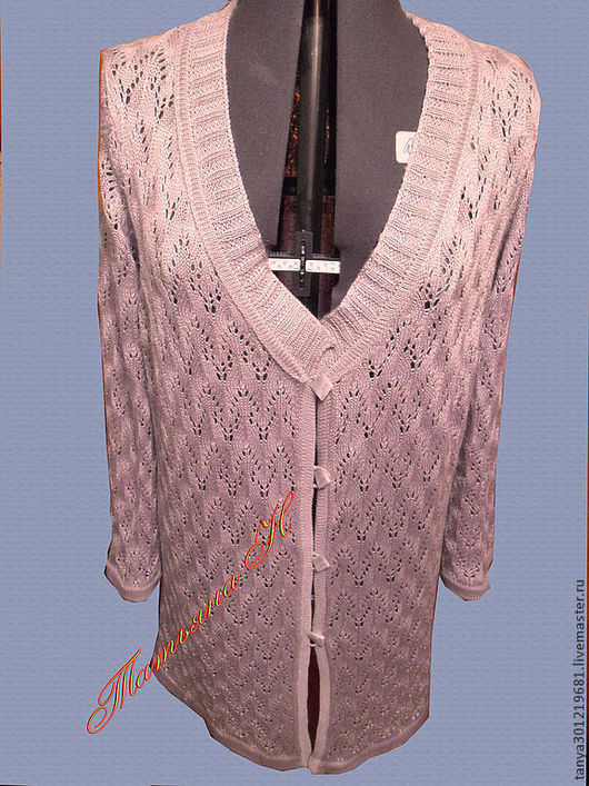 """Кофты и свитера ручной работы. Ярмарка Мастеров - ручная работа. Купить Кардиган """"Ажурный листик """". Handmade. Розовый"""