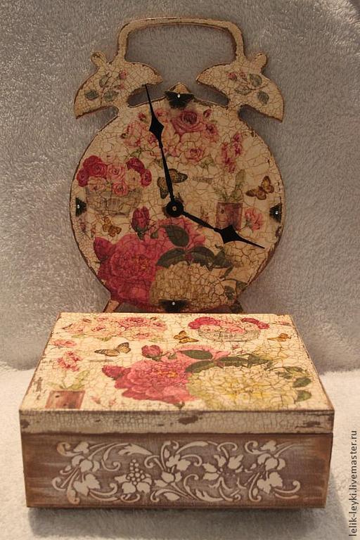 """Кухня ручной работы. Ярмарка Мастеров - ручная работа. Купить Чайный набор для кухни """"Розы"""". Handmade. Бежевый, чайная коробка"""