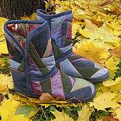 Обувь ручной работы handmade. Livemaster - original item Homemade patchwork boots R. .40-41 No. №201. Handmade.