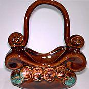 Кухонная утварь винтажная ручной работы. Ярмарка Мастеров - ручная работа Винтажная керамическая вазочка корзинка. Handmade.