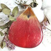 Украшения handmade. Livemaster - original item Pendant Red Tulip Petals These Tulips Spring. Handmade.