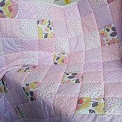 Для дома и интерьера ручной работы. Ярмарка Мастеров - ручная работа Детское лоскутное покрывало в лиловых оттенках. Handmade.