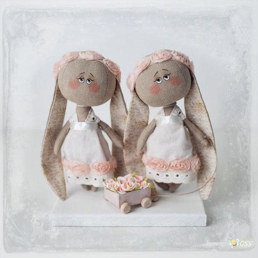 Коллекционные куклы ручной работы. Ярмарка Мастеров - ручная работа. Купить Зайки близняшки. Handmade. Зайка, кролики, нежные куклы
