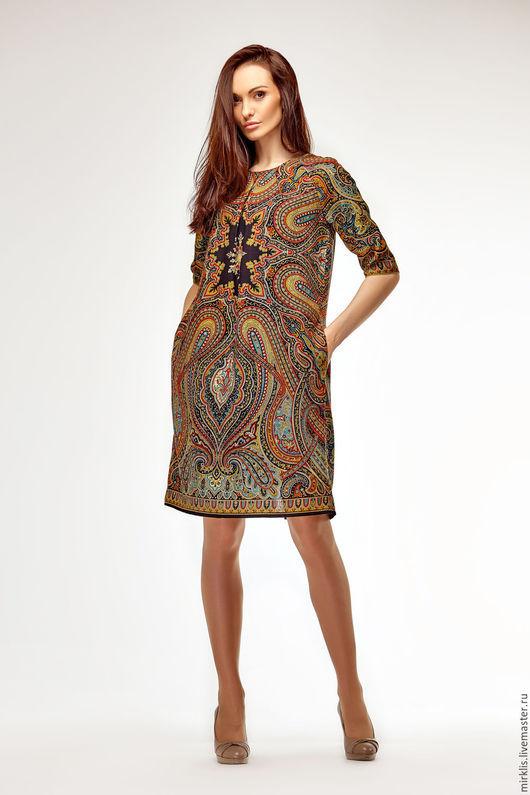 Платья ручной работы. Ярмарка Мастеров - ручная работа. Купить Платье 0618. Handmade. Черный, платье, платье узоры