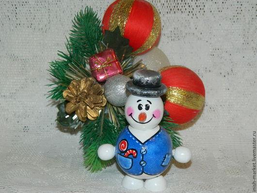 Человечки ручной работы. Ярмарка Мастеров - ручная работа. Купить снеговик Егорка. Handmade. Белый, новогодний декор