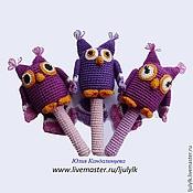 """Куклы и игрушки ручной работы. Ярмарка Мастеров - ручная работа """"Совушка"""" погремушка-погрызушка. Handmade."""