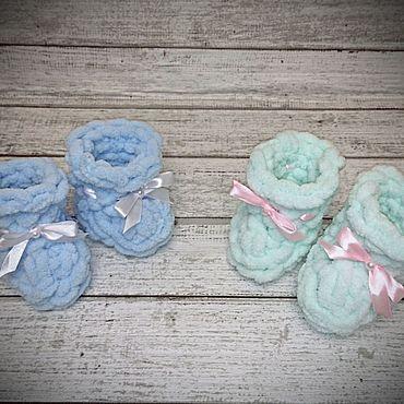 Товары для малышей ручной работы. Ярмарка Мастеров - ручная работа Пинетки для малышей. Handmade.