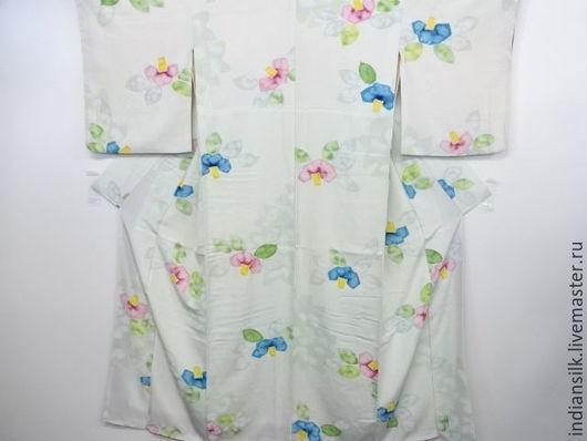 Одежда. Ярмарка Мастеров - ручная работа. Купить ШОК-ЦЕНАВинтажное кимоно из натурального шелка. Handmade. Комбинированный, японское кимоно