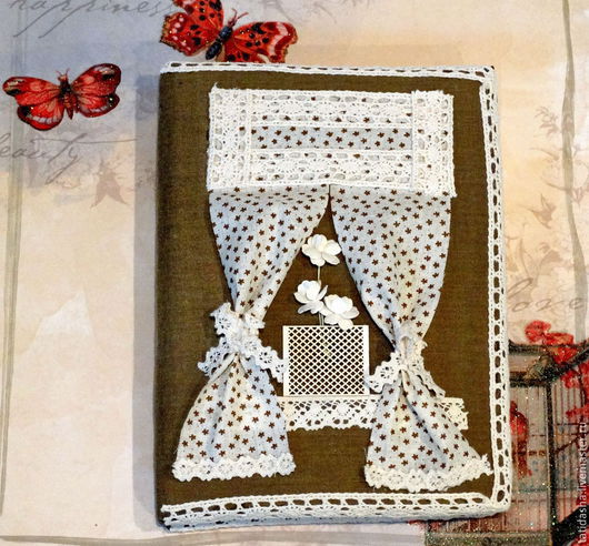 """Блокноты ручной работы. Ярмарка Мастеров - ручная работа. Купить Блокнот """"Уютный2. Handmade. Хаки, блокноты, Блокнот для женщины"""