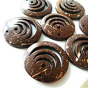 Материалы для творчества handmade. Livemaster - original item Suspension Coconut 30h4mm. Handmade.