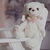 Куклы и игрушки ручной работы. Ярмарка Мастеров - ручная работа МишкаТедди Зефирка. Handmade.