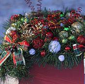 Подарки к праздникам ручной работы. Ярмарка Мастеров - ручная работа Новогодняя композиция. Handmade.