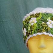 Аксессуары ручной работы. Ярмарка Мастеров - ручная работа Женская шапочка с ручной вышивкой Весна для Марии. Handmade.