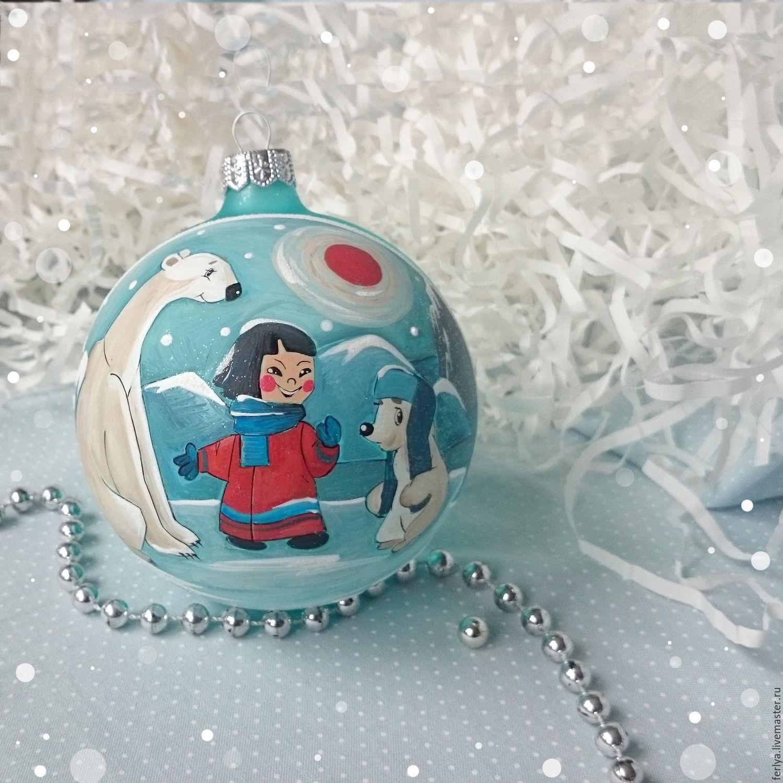 Раскрасить новогодний шар своими руками