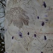 """Аксессуары ручной работы. Ярмарка Мастеров - ручная работа Шелковый шарф """" Клен"""", в эко стиле. Handmade."""
