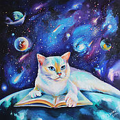 Картины и панно handmade. Livemaster - original item Cat oil on canvas
