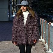 Одежда handmade. Livemaster - original item Fur coat faux fur under Lama. Handmade.