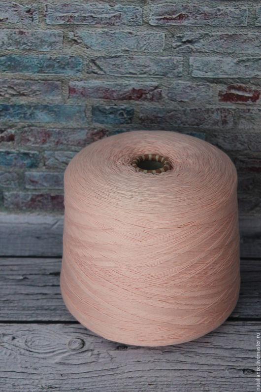 Вязание ручной работы. Ярмарка Мастеров - ручная работа. Купить Пряжа хлопок мако. Handmade. Бледно-розовый, пряжа с хлопком