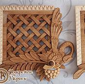 Для дома и интерьера ручной работы. Ярмарка Мастеров - ручная работа Вентиляционные деревянные решетки. Handmade.