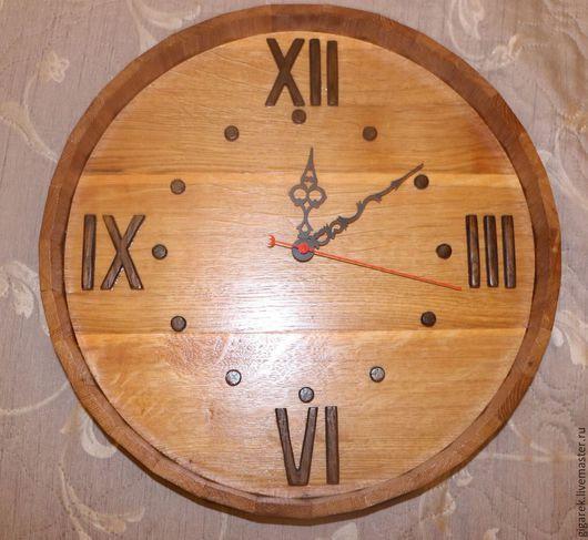 """Часы для дома ручной работы. Ярмарка Мастеров - ручная работа. Купить Часы настенные """"Бочка"""". Handmade. Часы настенные, бочка"""